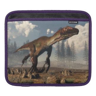 Utahraptor dinosaur in the desert - 3D render iPad Sleeve