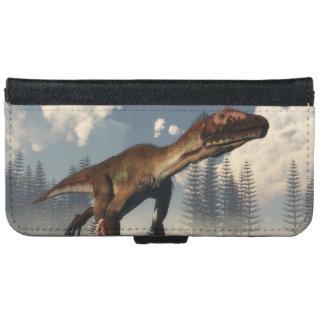 Utahraptor dinosaur in the desert - 3D render iPhone 6 Wallet Case