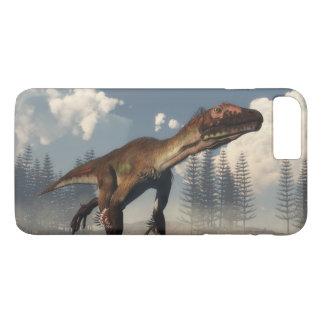 Utahraptor dinosaur in the desert - 3D render iPhone 8 Plus/7 Plus Case