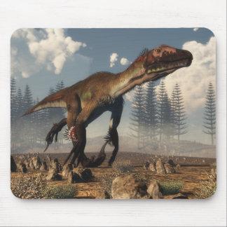 Utahraptor dinosaur in the desert - 3D render Mouse Pad