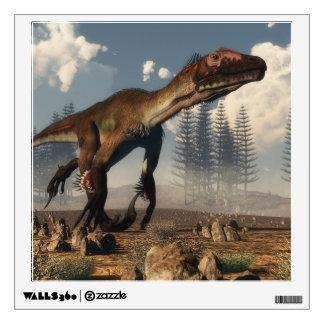 Utahraptor dinosaur in the desert - 3D render Wall Sticker