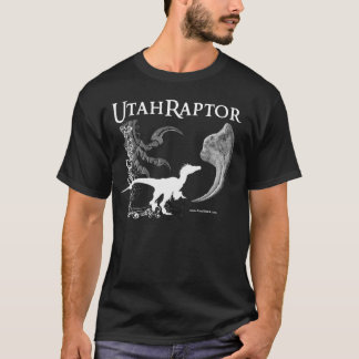 Utahraptor shirt in dark colors