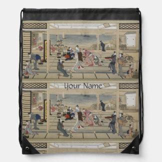 Utamaro's Japanese Art backpack