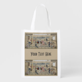 Utamaro's Japanese Art custom reusable bag Market Tote