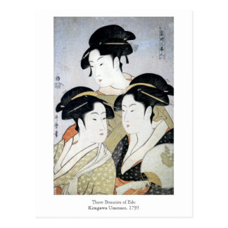 Utamaro Three Beauties of Edo Postcard