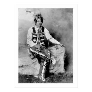 Ute Bridegroom, 1906 Postcard