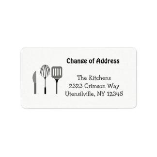 Utensils for the Kitchen New Address