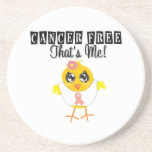 Uterine Cancer - Cancer Free That's Me Drink Coasters