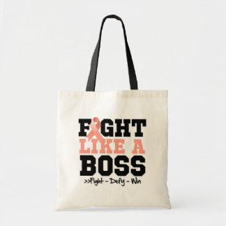 Uterine Cancer Fight Like a Boss Tote Bag