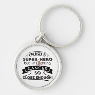 Uterine Cancer Not a Super-Hero Silver-Colored Round Keychain