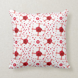 UterRoses - Uterus Rose Cross Repeat Pattern Throw Pillow