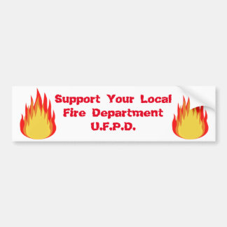 Utica Fire Series Bumper Sticker