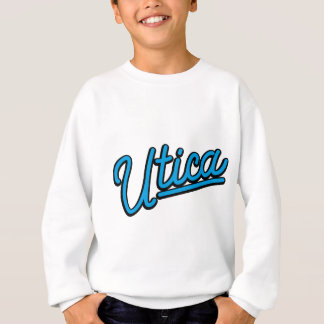 Utica neon light in cyan sweatshirt