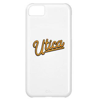 Utica neon light in orange iPhone 5C covers