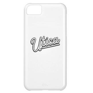 Utica neon light in white iPhone 5C cover