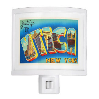 Utica New York NY Old Vintage Travel Souvenir Nite Light