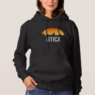 Utica New York Sunset Skyline Hoodie