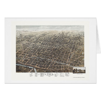 Utica, NY Panoramic Map - 1873 Card