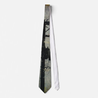 Utility Pole - Telephone Pole in taupe gray black Tie
