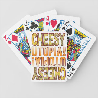 Utopia Blue Cheesy Bicycle Playing Cards