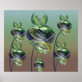 Utopian Alien Flowers Print