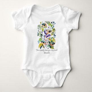 Utopian Avant-Garde Surreal Eyes Customize Baby Bodysuit