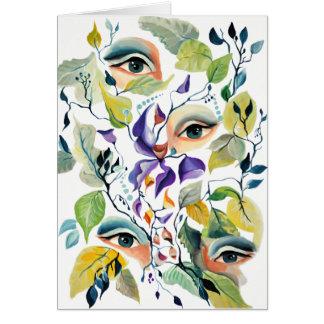 Utopian Avant-Garde Surreal Eyes Design Card