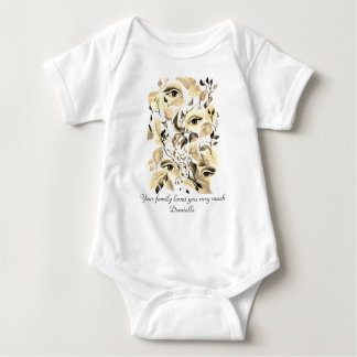 Utopian Avant-Garde Surreal Eyes  Sepia Customize Baby Bodysuit