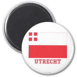 Utrecht Flag with name Magnet