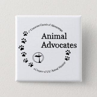 UU Animal Advocates Logo 2 Inch Square Button