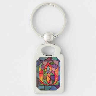 UU Flaming Chalice Artwork Keychain Unitarian