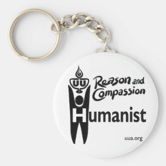 UU Humanist Basic Round Button Keychain