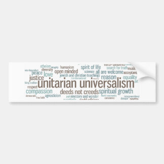 UU Word Cloud Bumper Sticker