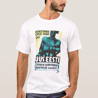 "Uus Eesti ""New Estonia"" - Newspaper Poster T-Shirt"