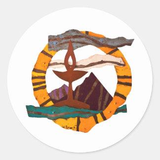 UUSS chalice, Unitarian Universalist, UU, chalice, Round Sticker