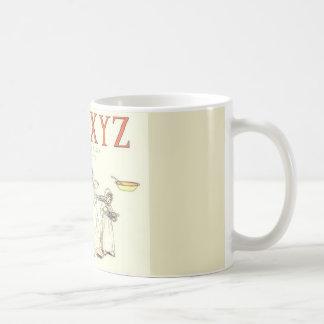 UVWXYZ Alphabet letter vintage classic mug