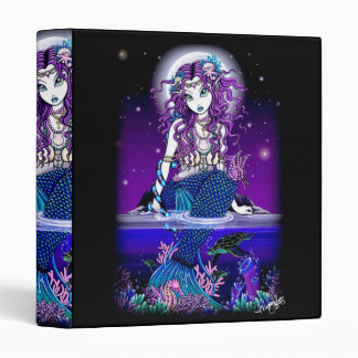 """Uxia"" Twilight Moon Gothic Mermaid Avery Binder"