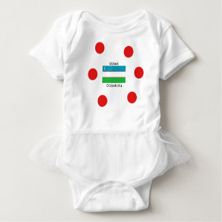 Uzbek Language And Uzbekistan Flag Design Baby Bodysuit