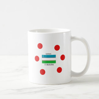 Uzbek Language And Uzbekistan Flag Design Coffee Mug