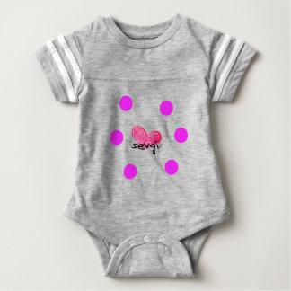 Uzbek Language of Love Design Baby Bodysuit
