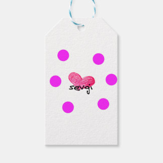 Uzbek Language of Love Design Gift Tags