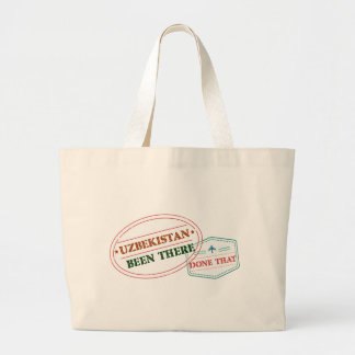 Uzbekistan Been There Done That Large Tote Bag