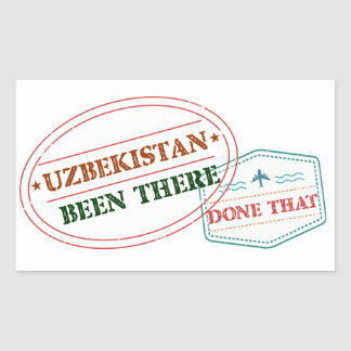Uzbekistan Been There Done That Sticker