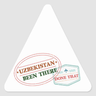 Uzbekistan Been There Done That Triangle Sticker