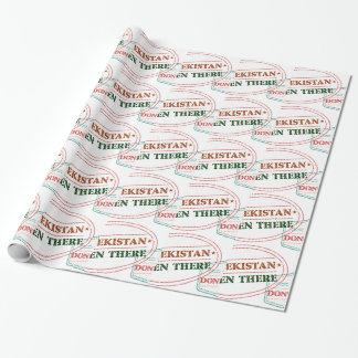 Uzbekistan Been There Done That Wrapping Paper