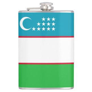 Uzbekistan Flag Hip Flask