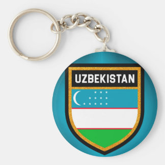 Uzbekistan Flag Keychain