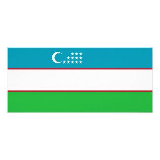 Uzbekistan Flag Rack Card