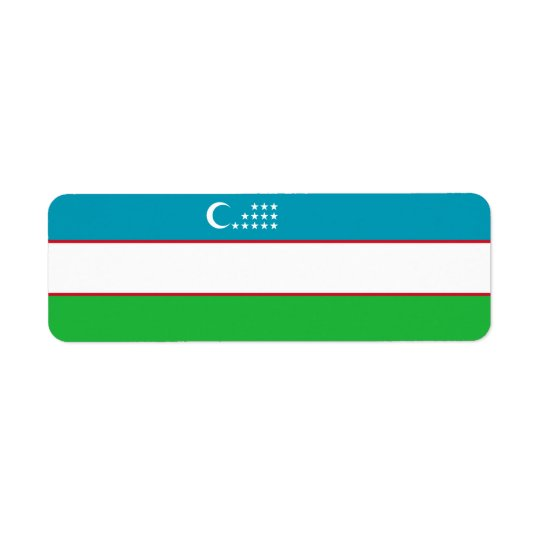Uzbekistan Flag Return Address Label