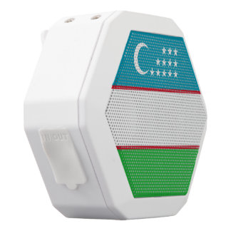 Uzbekistan Flag White Bluetooth Speaker